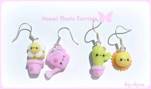Kawaii plants earrings by Bojo-Bijoux