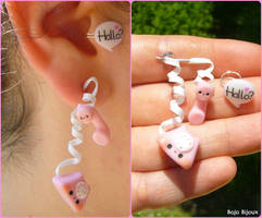 Hello??  - fake ear plug by Bojo-Bijoux