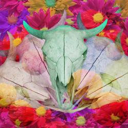 Flower Skull by GiannaPergamo