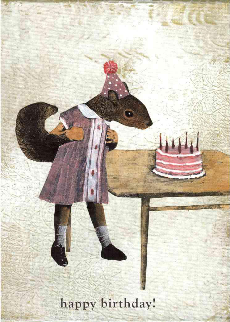 Happy Birthday!  Squirrel by GiannaPergamo