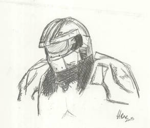 Master Chief -  Potrait contest by thetrueCrystalVixen
