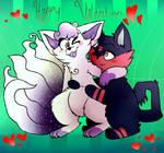 Happy Valentines  by Diamondwolf12