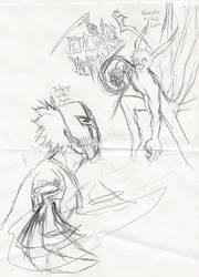 Mask Ichigo VS. 4 tail Naruto by TANKx777