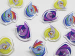 MLP Acrylic Pins by spacekitsch