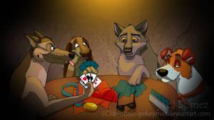 Dogs Playing Poker by Demonic-Pokeyfruit