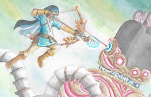 Guardian Battle by PitchBlackEspresso