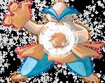 Collab: Hariyama used Belly Drum! by PitchBlackEspresso