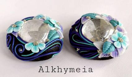 Gocce in Azzurro e Viola by Alkhymeia