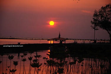 Sunset from Panjang Island - 2 by powerlogical