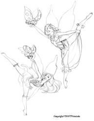 Sketchbook(Dancing Pixies 1) by dagracey