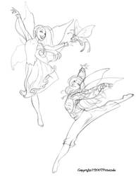 Sketchbook(Dancing Pixies 3) by dagracey