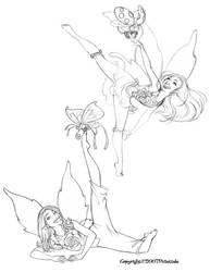Sketchbook(Dancing Pixies 4) by dagracey