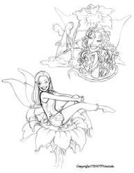 Sketchbook(Dancing Pixies 2) by dagracey
