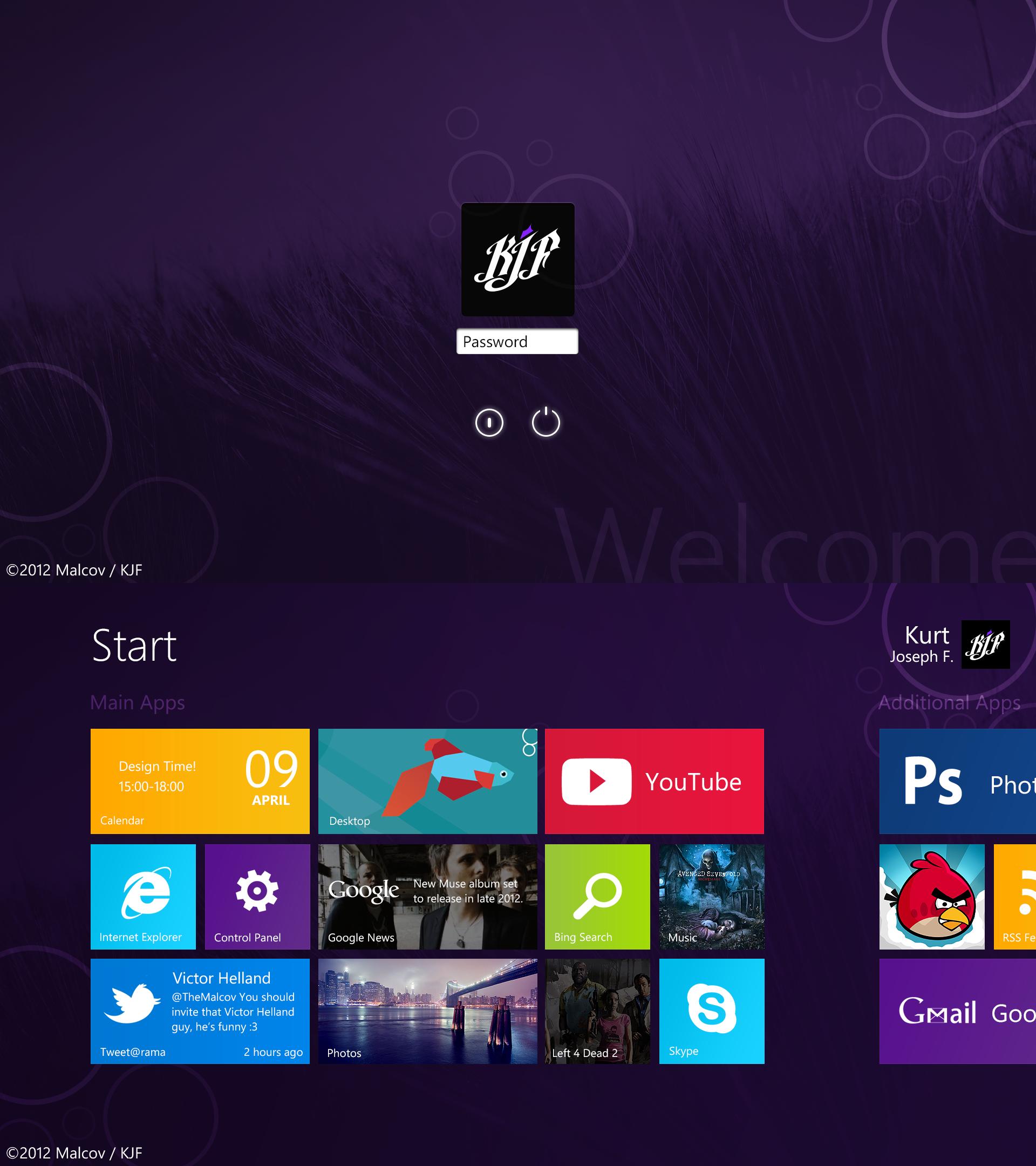 Windows 8 Metro Mockup/Recreation by Malcov KJF by Malcov