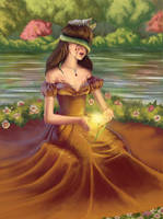 Persephone with narcissus by Maryetten