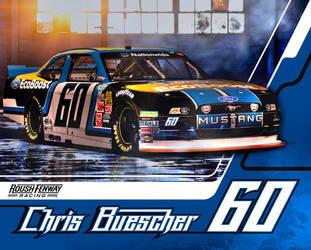 Chris Buescher 2014 Nationwide Rookie Hero Card by graphicwolf