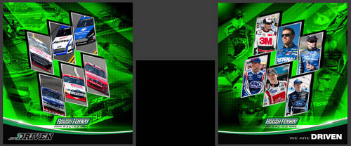 Roush Fenway Museum Wall Mockup by graphicwolf