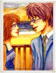 Harry + Hermione Love by BittersweetGeek