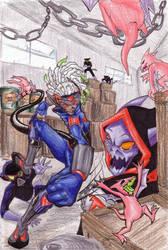 NSK Fight a Villain by min-arts