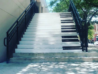 Piano Staircase by StormStrick