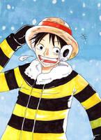 Snowy Luffy by Chibi-BB