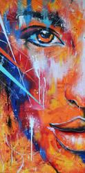 Fire Abstract Portrait by NeverLookBackk