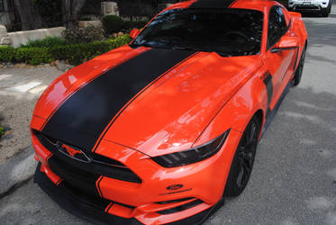 Orange Ford Mustang Turbo by Colonel-Knight-Rider