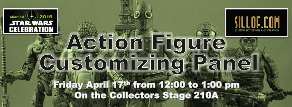 Star Wars Celebration -Custom Action Figure Panel by sillof