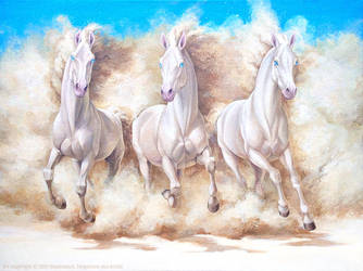 Sand horses by Anisis