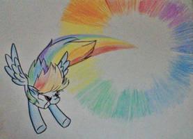Sonic Rainboom by RozzyIsDizzy
