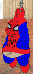silly tubby spiderman by FatYogi