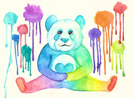 Rainbow Panda of Love by UschiMalt