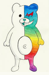 Rainbow Monokuma by UschiMalt