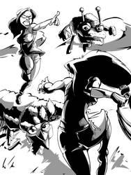JSB vs Wonder Woman: Grays by SkipperWing