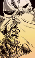 DSC- Mario Kart Vs Ghost Rider by SkipperWing
