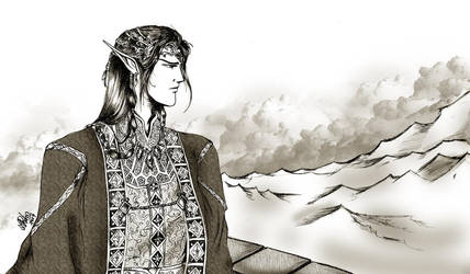 Fingon of the Noldor manga by Mami02