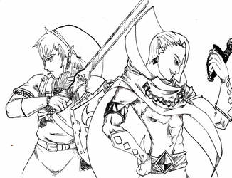 link and lord ghirahim by knight-alui