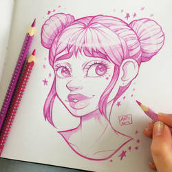Space Buns by TheLittleArtyThing