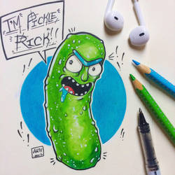I'M PICKLE RICK!!!! by TheLittleArtyThing