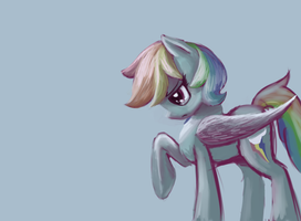 Rainbow Dash Painting by DarkFlame75