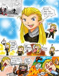 Legolas and Gimli comic by The-Fellowship