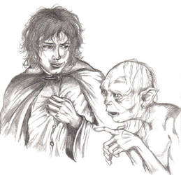 Frodo and Gollum by The-Fellowship