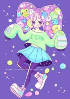 Space Bubble Girl by littlemisspaintbrush