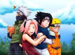 Naruto: Team 7 by HazuraSinner