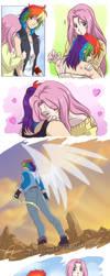 RainbowDash+Fluttershy by HazuraSinner