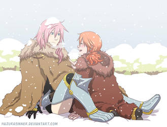 Fun in the snow by HazuraSinner