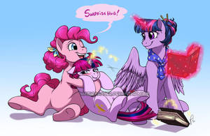 Twilight and Pinkie's Family by HazuraSinner