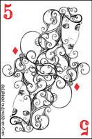 5 of diamonds by vasodelirium