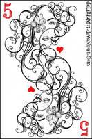 5 of hearts by vasodelirium