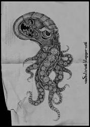 clockwork octopus by vasodelirium